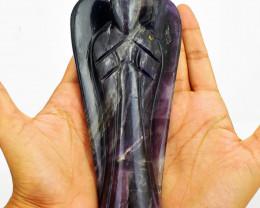 Genuine Huge size Fluorite Carved Angel