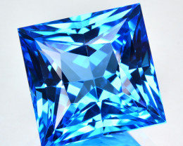 24.26 Cts Natural Swiss Blue Topaz  Square Princess Flawless