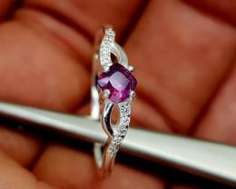 10Crt Kashmir Sapphire 925 Silver ring 9 Natural Gemstones JI35