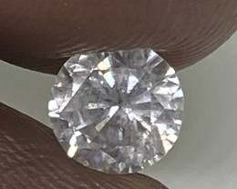 (2) Certified Nat $1024 Fiery 0.64cts SI3 White Round Loose Diamond