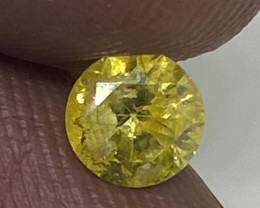 (4) Certified Nat $440 Precious 0.46cts SI3  Fancy Vivid Yellow Round Loose