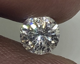 (5) Certified Nat $742  Gorgeous  0.51cts  I1 White Round Loose Diamond