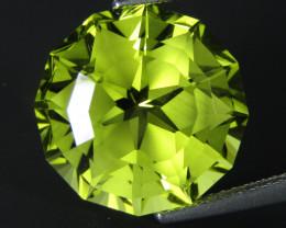 9.93Cts Genuine Natural Lemon Quartz Round Magic  Cut Loose Gemstone REF VI