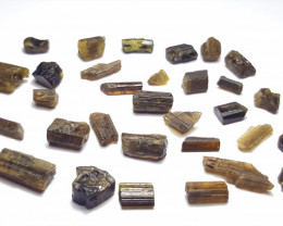 Amazing Natural color gemmy quality rough Epidote lot 100Cts-GN1