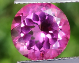 4.60 CTS SUPERIOR! TOP QUALITY 10.17 MM ROUND CUT HOT PINK-TOPAZ GENUINE NR
