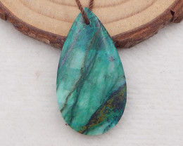 21.5cts chrysocolla pendant ,natural gemstone ,chrysocolla water drop penda