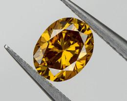 Fancy Yellow Orange Loose Natural Diamond Oval 0.24 Ct. VVS2 Untreated