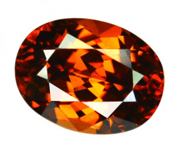 2.65 Cts Sparkling Natural Zircon Imperial Brown Color Oval Cut Tanzania