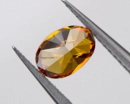 Fancy Deep Orange Loose Natural Diamond Oval 0.35 Ct. SI1 Untreated