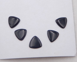 29.5cts 5pcs fashion natural obsidian cabochon,natural gemstones D1148