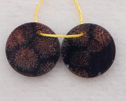 8cts unique beautiful chohua jasper,natural chohua jasper earrings pair D11