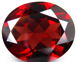 4.59Cts Genuine Natural Unheated  Almandine Garnet Oval Shape Loose Gem VID