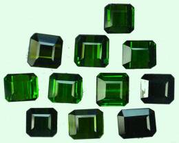 17.10 Cts Natural Green Tourmaline  Octagon Calibrated Parcel