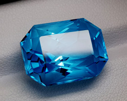 24.65CT PRECISION CUT TOPAZ BEST QUALITY GEMSTONE IIGC40