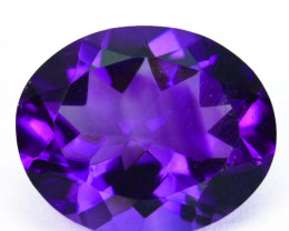 4.05 Cts Natural AAA Purple Amethyst 12x10mm Oval Cut Bolivia