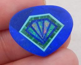 10cts new malachite, lapis lazuli and opal intarsia cabochon for desinger i