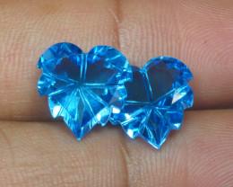 10.660 CRT LOVELY SWISS BLUE TOPAZ CARVING-