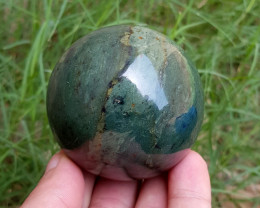 1700 CT Lovely Top Polished Nephrite Healing Sphere-afghanistan