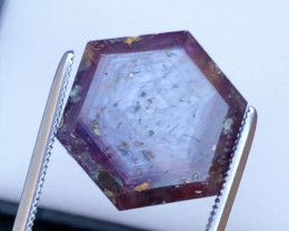 Rarest 16.15 Ct Transparent Ruby Trapiche
