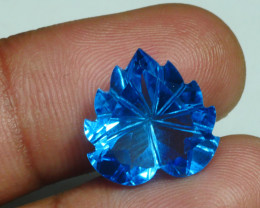 9.860 CRT LOVELY SWISS BLUE TOPAZ VERY CLEAR-