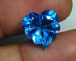 8.365 CRT LOVELY SWISS BLUE TOPAZ VERY CLEAR-