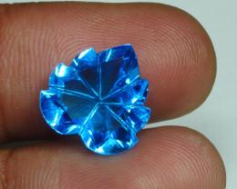 7.640 CRT LOVELY SWISS BLUE TOPAZ VERY CLEAR-