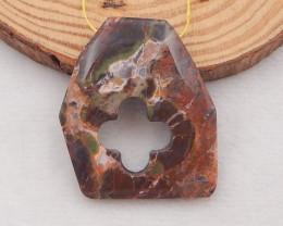 70.75 Cts Natural Mushroom Jasper Pendant Bead P0036