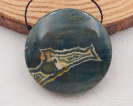 91.5cts  Natural Ocean Jasper Pendant Bead P0038