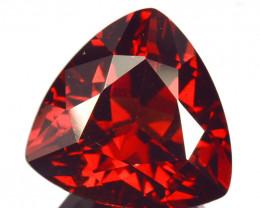 ~MIND BLOWING~ 4.71 Cts Natural Deep Red Rhodolite Garnet Trillion