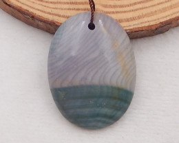 72Ct Natural Wave Jasper Pendant Bead P0047