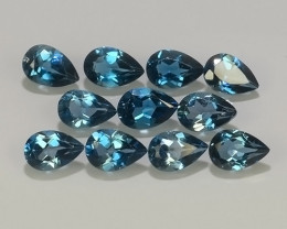 5.55 CTS AWESOME NICE QULITY MIXED PEAR~LONDON BLUE NATURAL TOPAZ~
