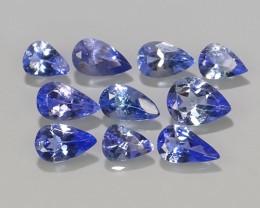 1.90 CTS EXCELLENT NATURAL  BLUE TANZANITE 11 PCS PAER PARCEL