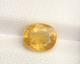 Top Grade 2.20  ct lovely Yellow Sapphire Ring Size