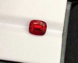 Top Grade 2.65 ct lovely Red Garnet Ring Size