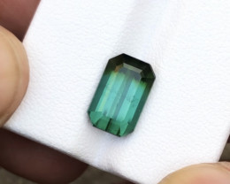 3.95 Carats Natural Bi Color Tourmaline Cut Stone from Afghanistan