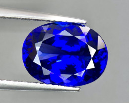 4.60 ct Top Color Oval Tanzanite Faceted Gem