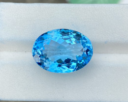 Natural Sky Blue Topaz 22.05 Cts Good Luster