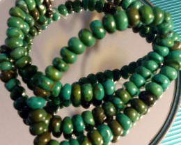 BEAUTIFUL TURQUOISE COLORED HOWLITE BEAD STRAND 15 INCH LENGTH