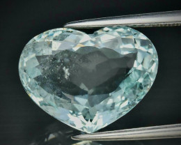 6.71ct Aquamarine - UNTREATED / Brazil  / 14.7 x 11.2mm