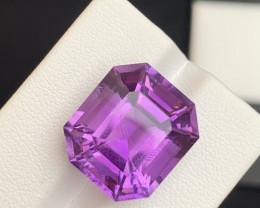 17.80 Carats fancy cut amethyst gemstone