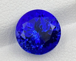 3.68 CT Tanzanite Gemstone Top Color with top luster Round cutting