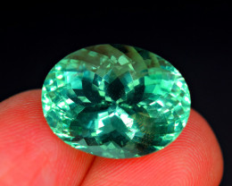Flawless 16.60 Carat  Top Fluorite Unusual Rare Color Perfect Cut Gemstone@