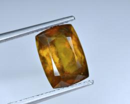 5 Carat Rare Clinoziosite inside lots of thin needles Cut Gemstone@Pak