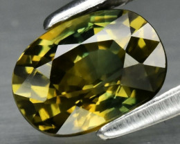 CERTIFICATE Incl.*1.05ct VVS Natural Unheated Yellow-Green Sapphire