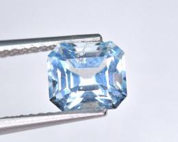 1.53 Carat Blue Aquamarine Top Fancy Cut Gemstone