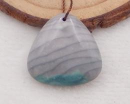 26.5Cts Wave Jasper Gemstone Lucky pendant,Natural gemstone P0052