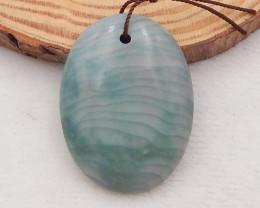 76.5 ct Natural Wave Jasper Pendant Bead,Natural Gemstone P0070