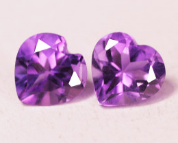 1.41 Cts Paired Natural Purple Amethyst Loose Gemstone