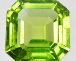 3.01 Cts Stunning Natural Green Peridot Square Cut Pakistan