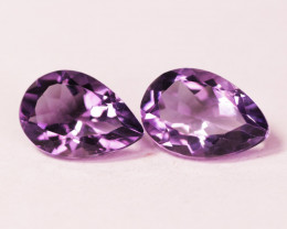 5.63 Cts Paired Natural Purple Amethyst Loose Gemstone